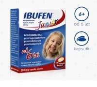 Ibufen Junior 0,2 g 10 kaps.