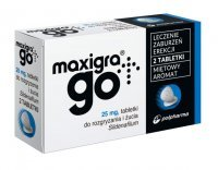 Maxigra Go 25mg x 2tabl. do żucia