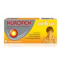 Nurofen JUNIOR 200 m g - 6 tabletek